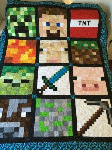 eec9bb1acf Colcha Minecraft
