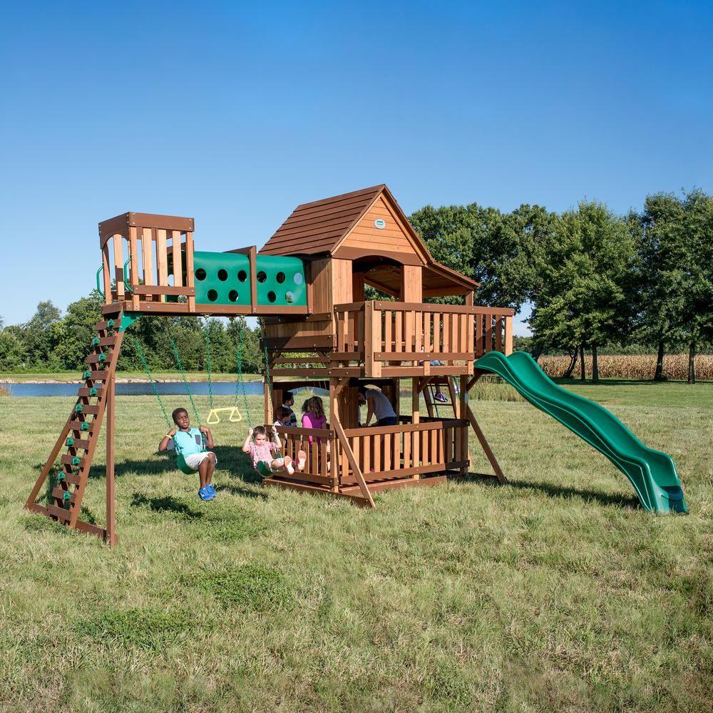 Backyard Discovery Woodridge Elite All Cedar Swing Set ...