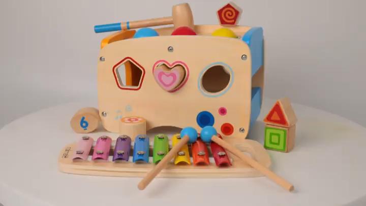 Rolimate Xylophon Und Hammerspiel Spielzeug Ab 1 Jahr 3 In 1 Montessori Padagogisches Vorschullerne Video In 2020 Spielzeug Ab 1 Jahr Musikspielzeug Nachziehspielzeug