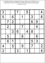 Sudoku - page 1   Sudoku à imprimer, Sudoku, Jeux de lettres