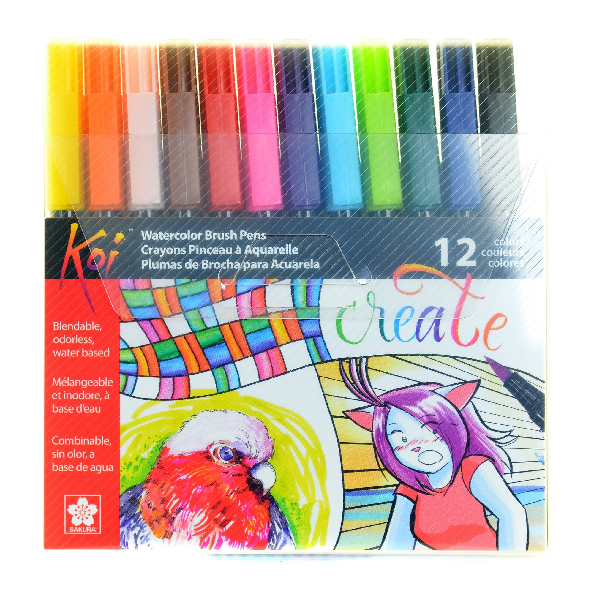 Coloring Brush Pen Set Koi 12ct Coloring Brush Pen Brush Pen
