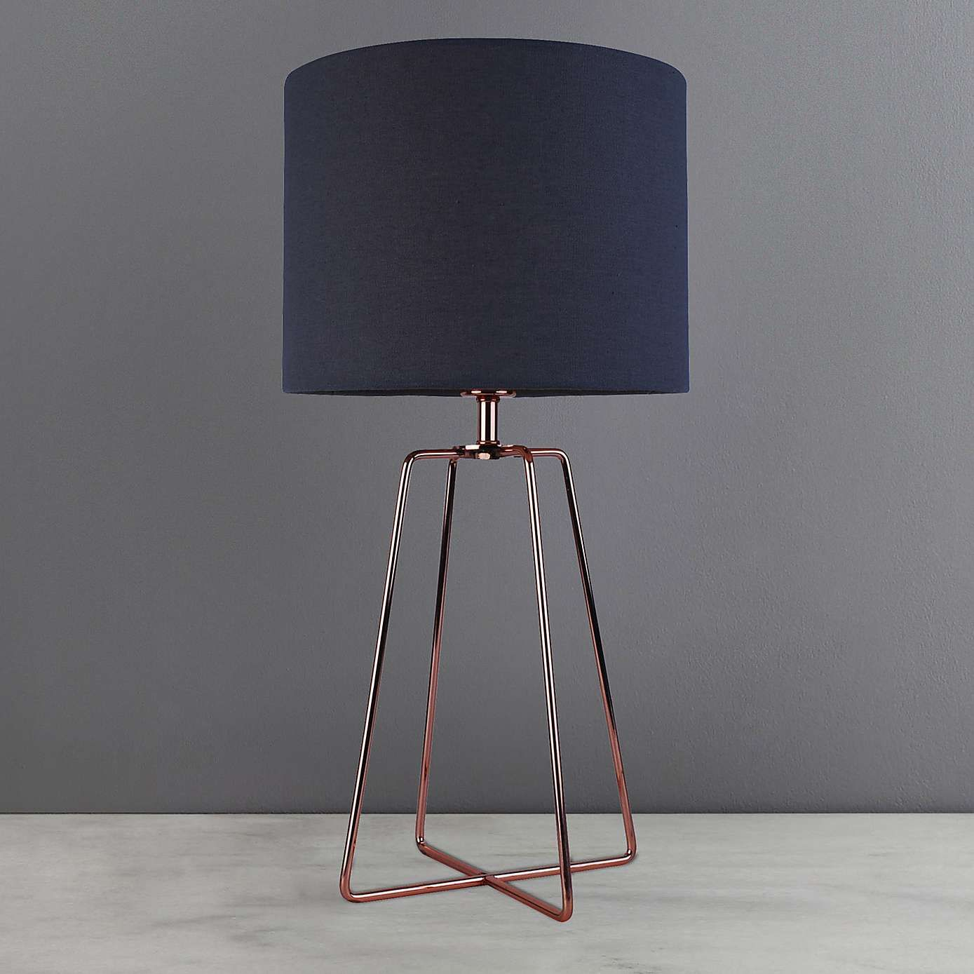 Hester Wire Base Table Lamp Copper | Dunelm | Table lamps living ...
