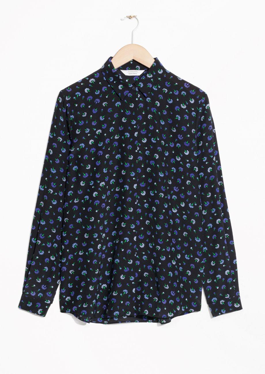 99af88710f479d & Other Stories image 2 of Silk Shirt in Black Floral   Fashion ...
