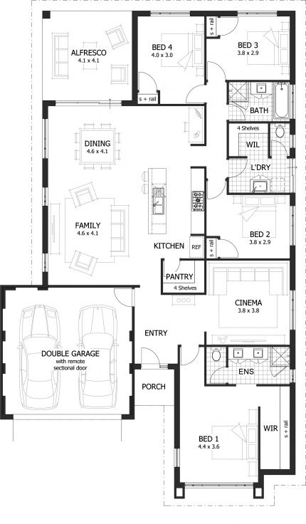Foyer Plan Kitchen : Redford floor plan over sqm of living area feature