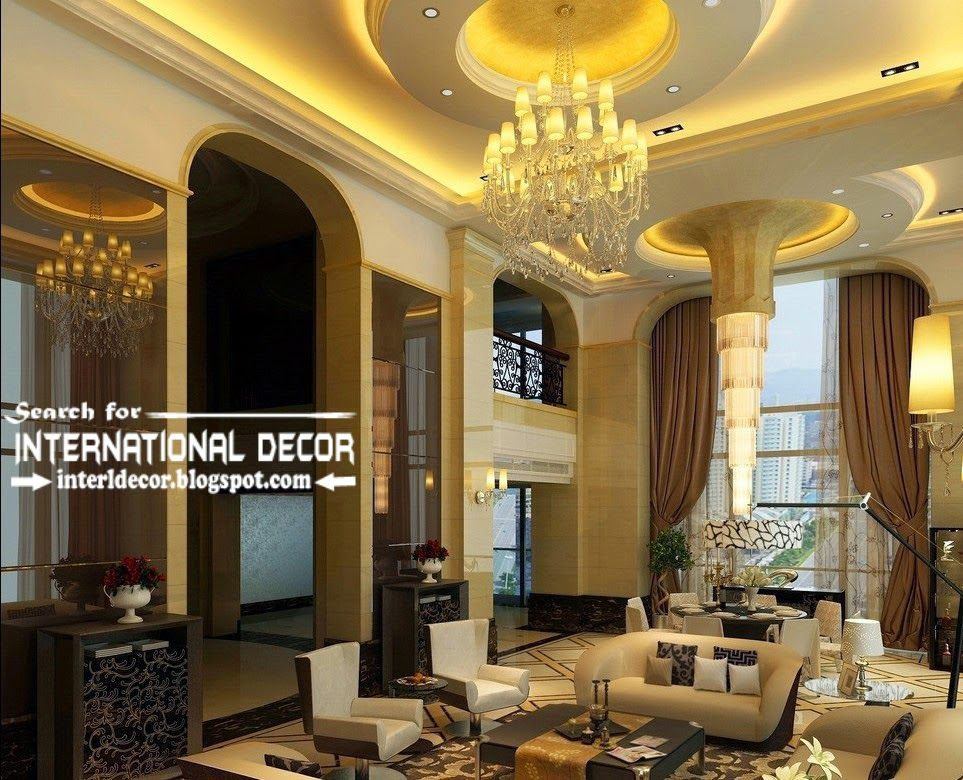 Modern Luxury Pop False Ceiling Designs Ideas 2015 Led Lighting Impressive Luxury Living Room Design 2018