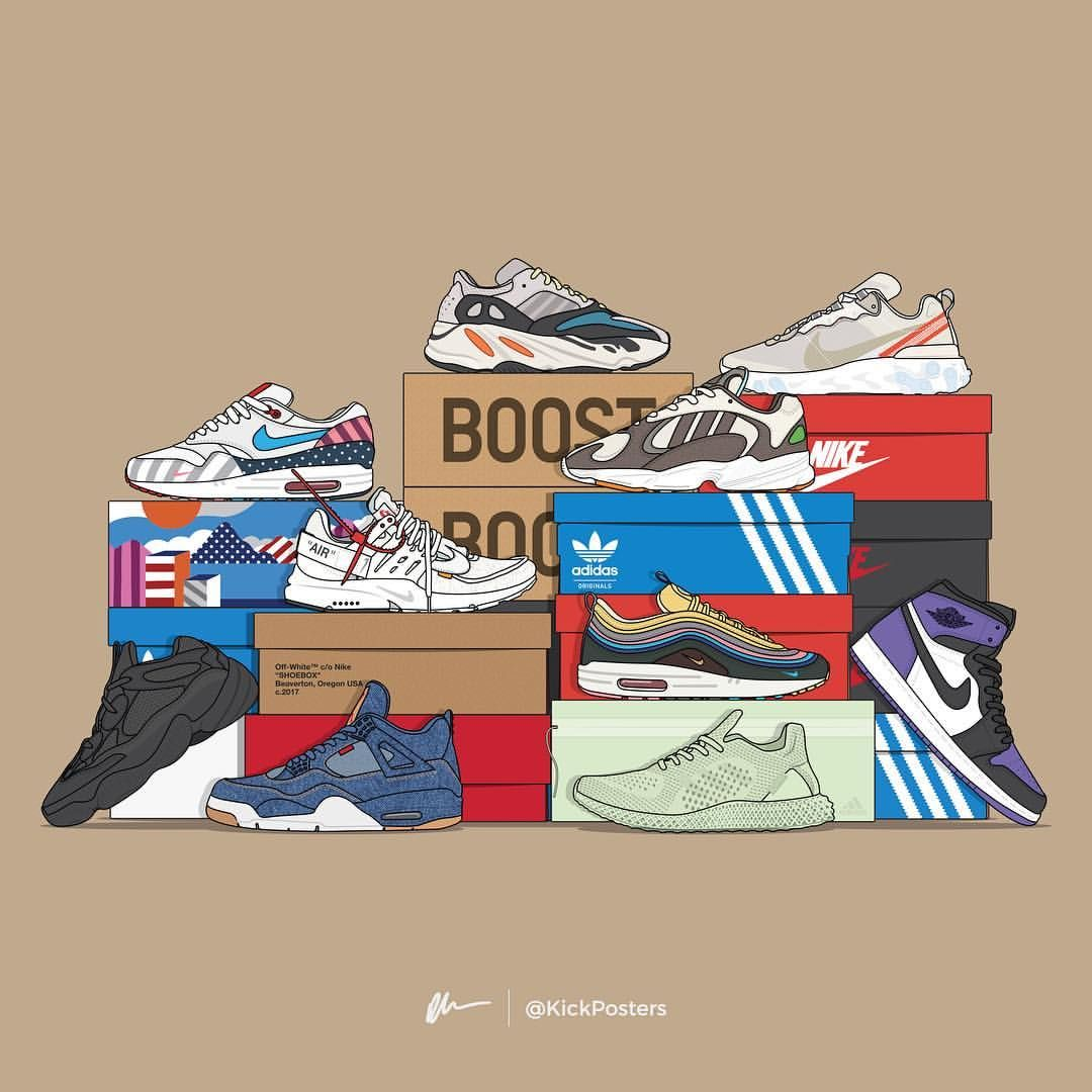 Kickposters By Dan Freebairn On Instagram What S Your Shoe Of The Year So Far There S Been S Sneakers Wallpaper Sneakers Illustration Sneaker Art