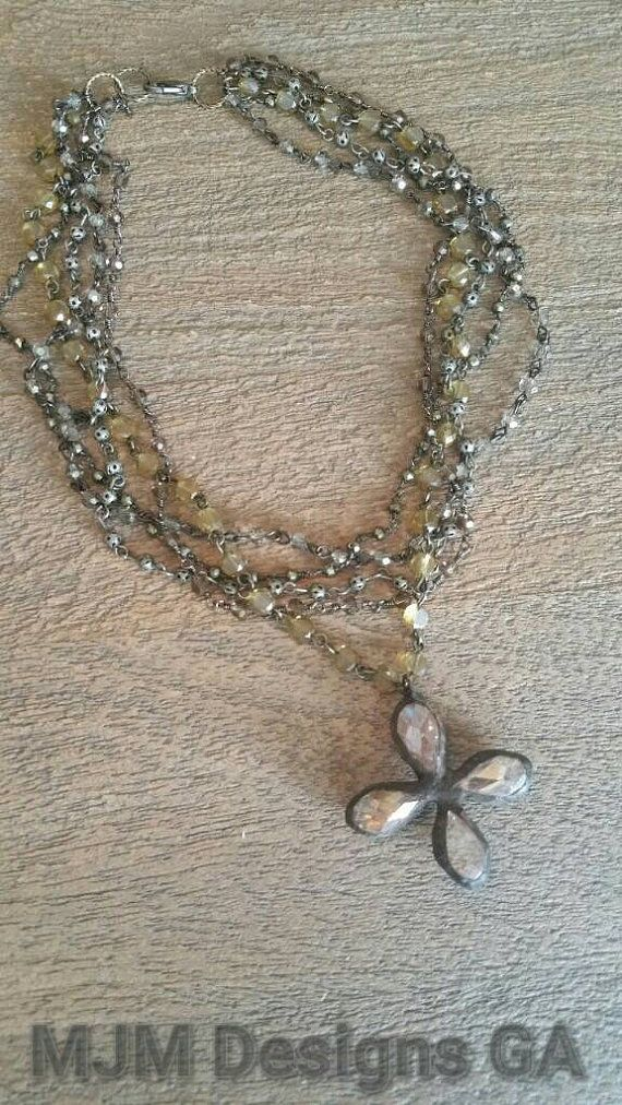 NEW Multi layer wired rosary chain with a 2 hand by MJMDesignsGA