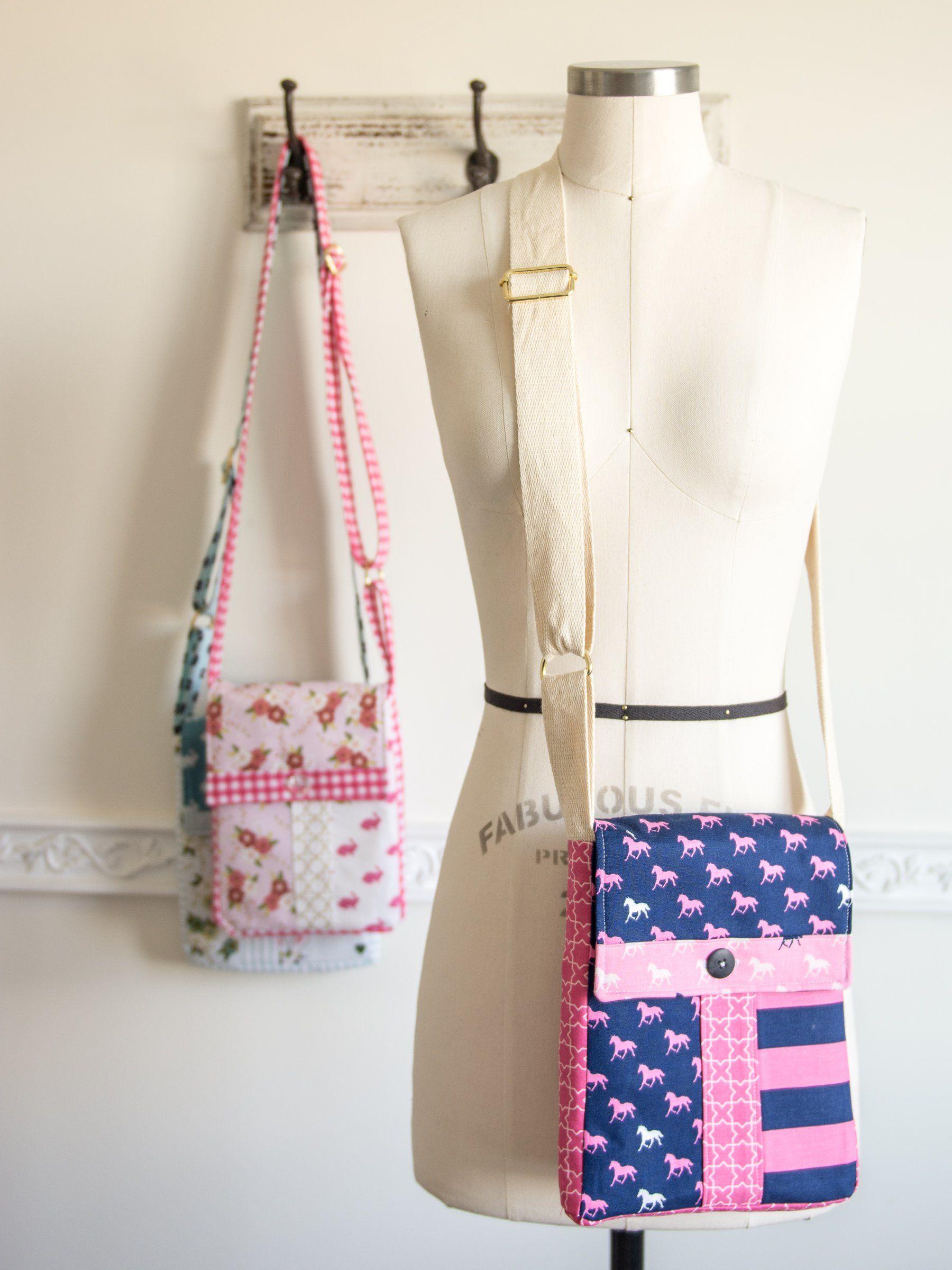 June Bag, Mini Messenger Bag Sewing Pattern | Digital PDF Pattern ...