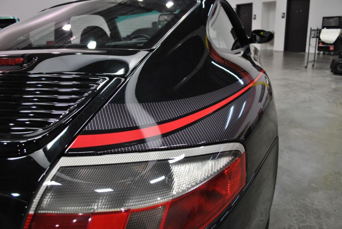 2000 Porsche Carrera with Custom Carbon Fiber & Red Vinyl