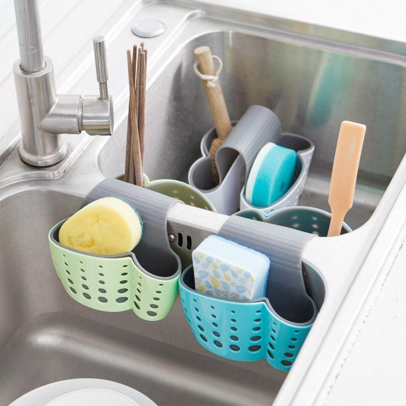 Kitchen Hanging sink Drain Basket Storage Drain