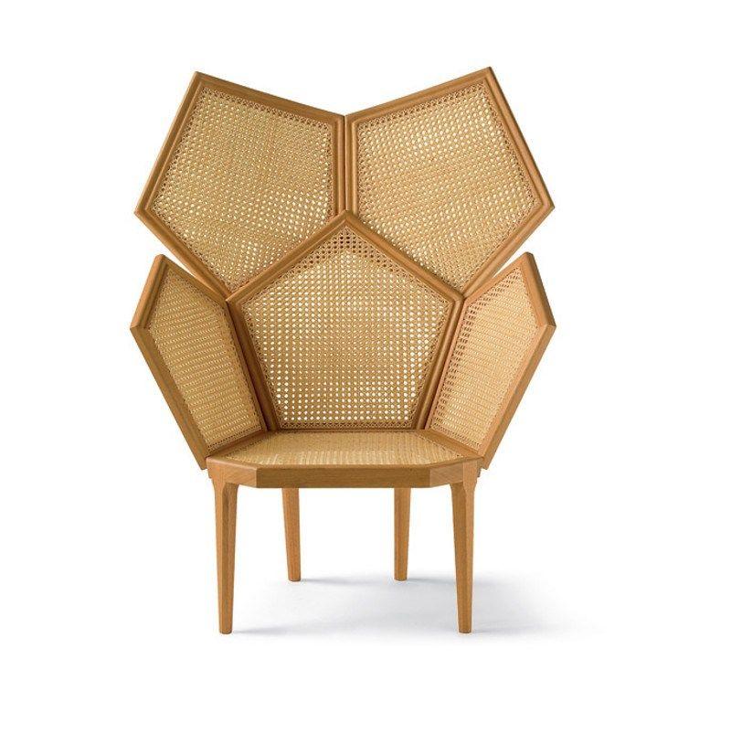 Trendwatch Rattanmöbel Armchairs and Nest - wohnzimmer orange beige