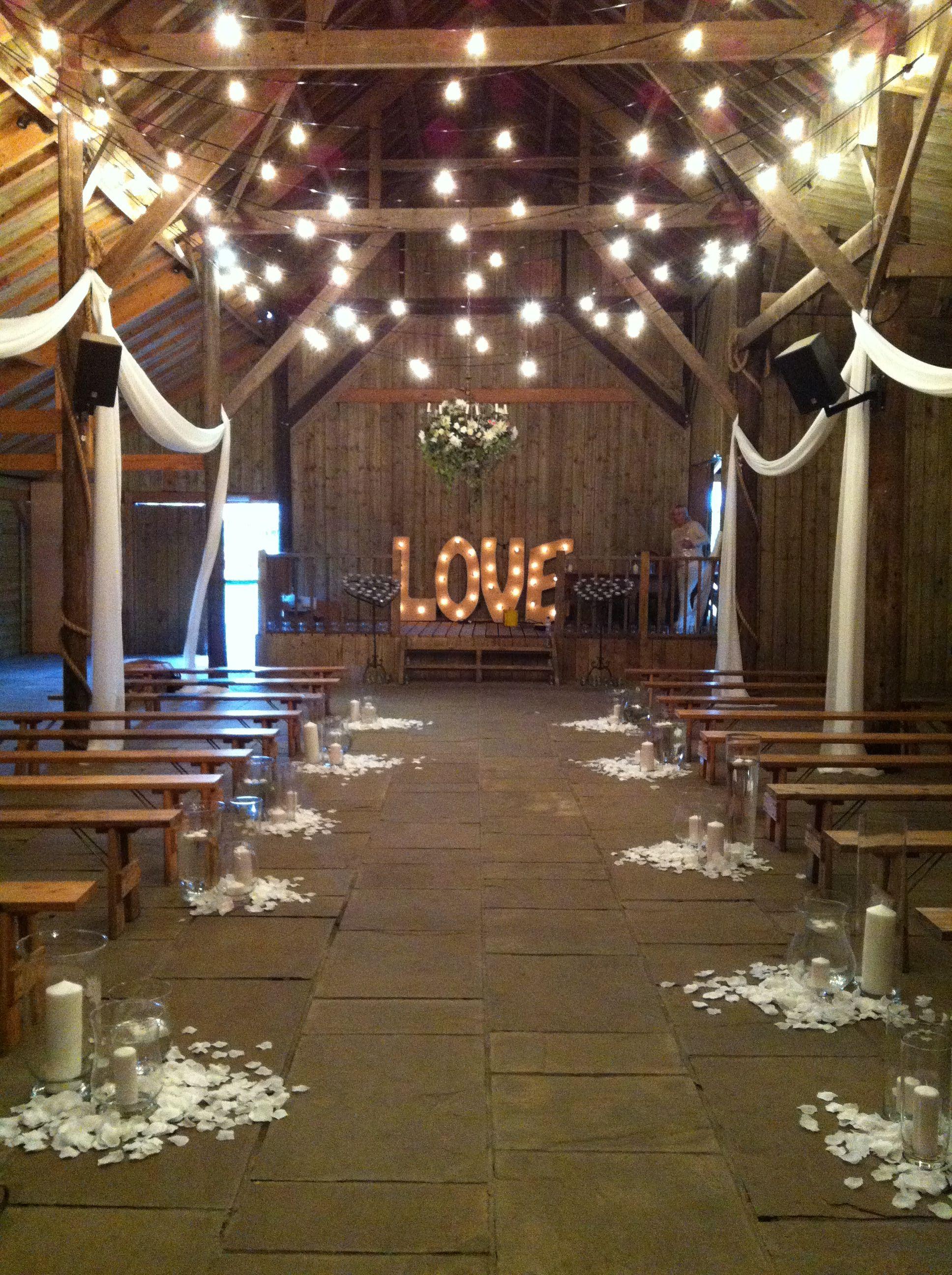 barn wedding lighting. A Very Rustic , Barn Feel Wedding Lighting