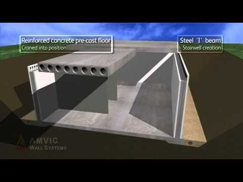 This Video Shows How Amvic Insulating Concrete Formwork Can Build A Basement And House Shell Insulated Concrete Forms Concrete Formwork Building A Garage
