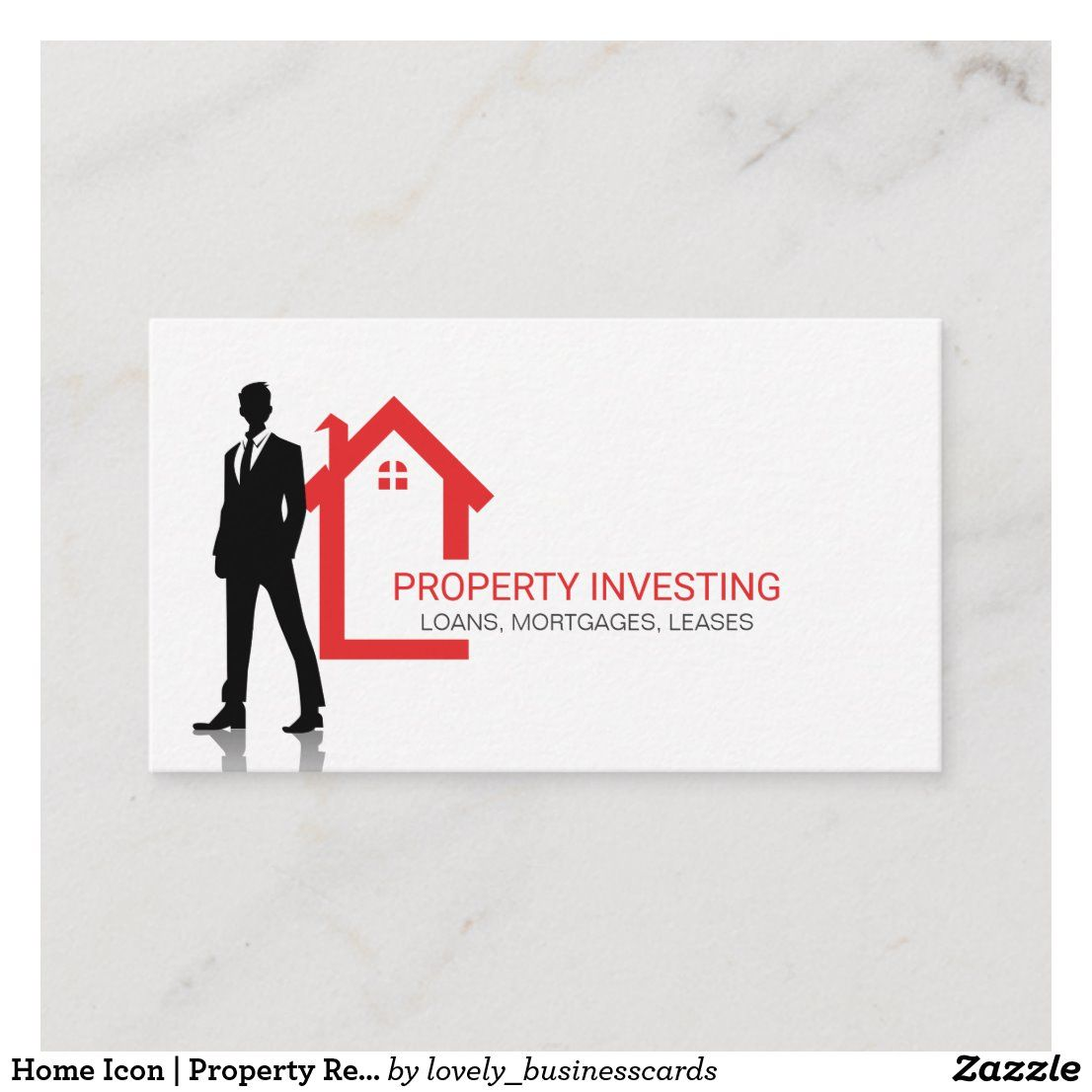 Home Icon Property Real Estate Business Card Zazzle Com In 2020 Real Estate Business Cards Real Estate Business Home Icon