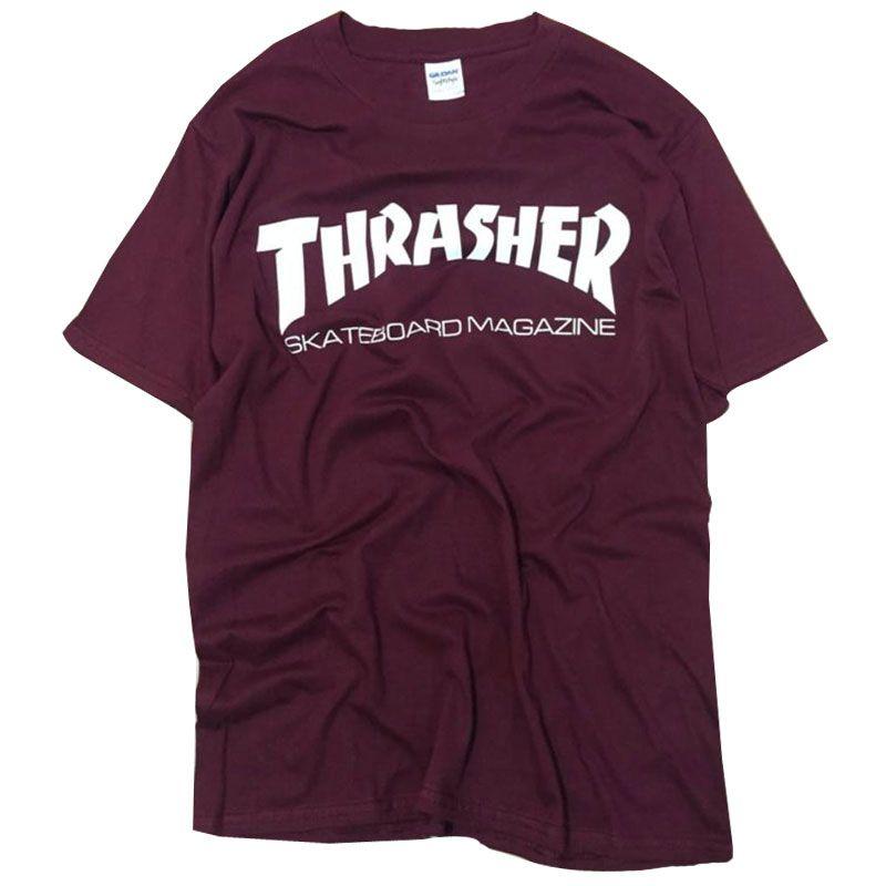새로운 채찍질 T 셔츠 남성 스케이트 티 짧은 소매 스케이트 티셔츠 힙합 T 셔츠 옴므 남자 잡지 trasher T 셔츠
