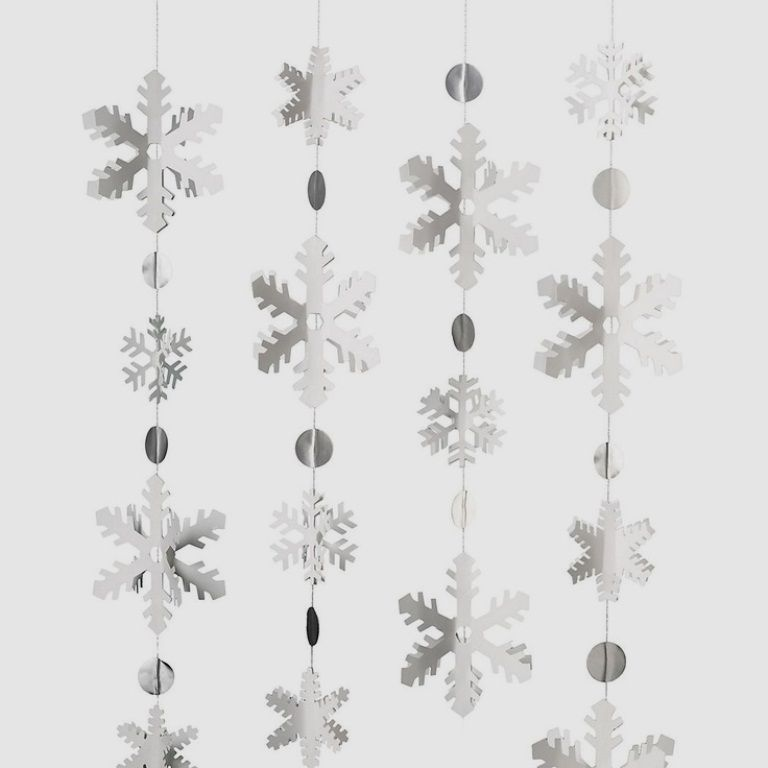 Paper Source Snowflake Garland Kit - Christmas Holiday Arts & Crafts CPS999985M #PaperSource