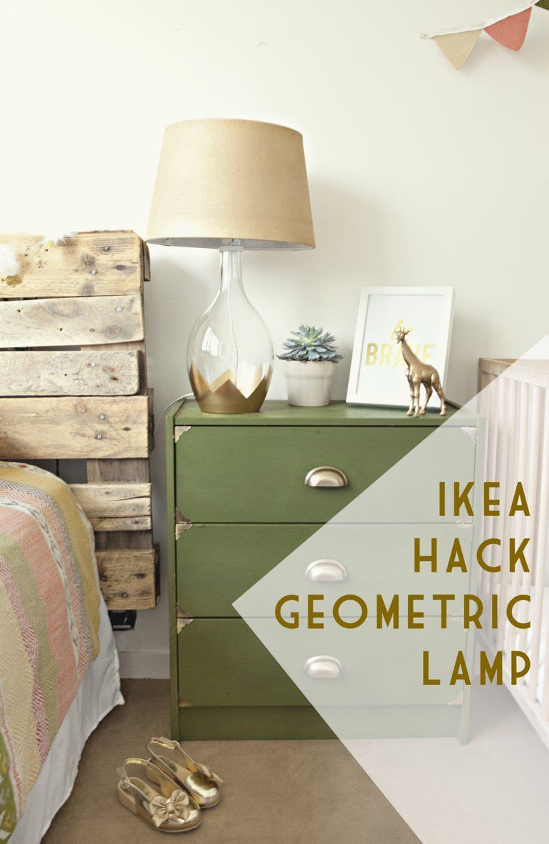 Ikea hack geometric lamp via sewing in no mans land ...