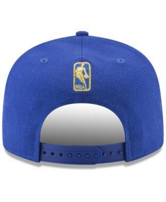new product ca0fb f326f New Era Golden State Warriors Team Metallic 9FIFTY Snapback Cap - Blue  Adjustable
