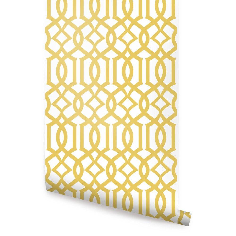 Modern Trellis Wallpaper - Peel and Stick   Trellis ...