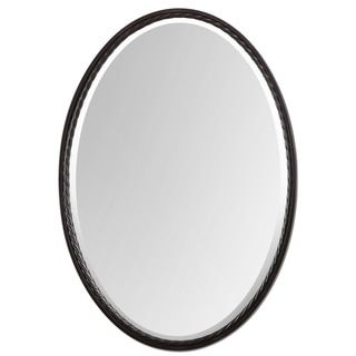 Bathroom Mirrors Bronze ren wil beveled frameless oval mirror | bronze mirror and oil