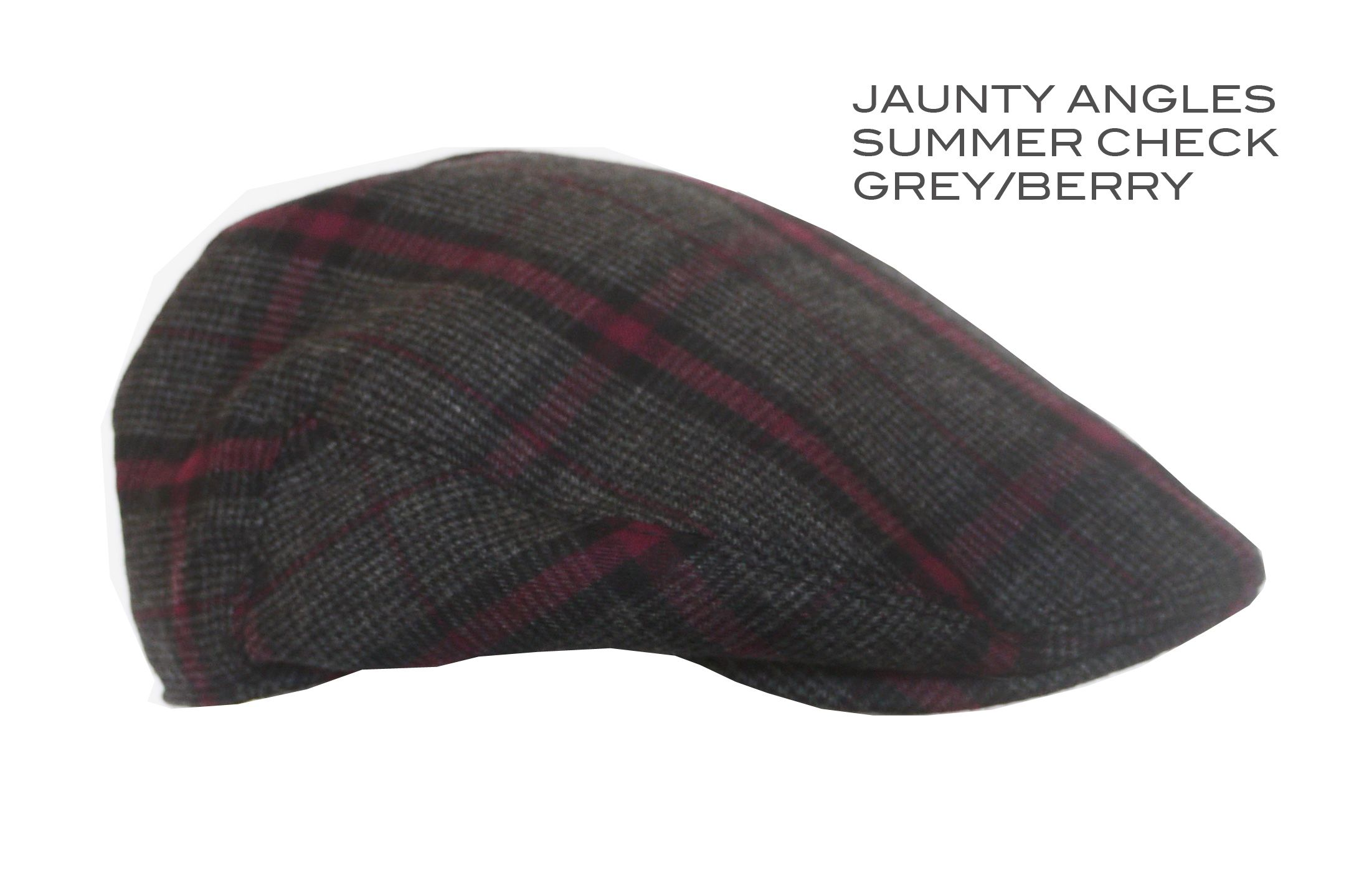 Summer check cap. Luxury Yorkshire wool in stunning Grey and Raspberry  check. 100% Made in Britain. Available at www.kempadoo.com £58 f9e950dae43