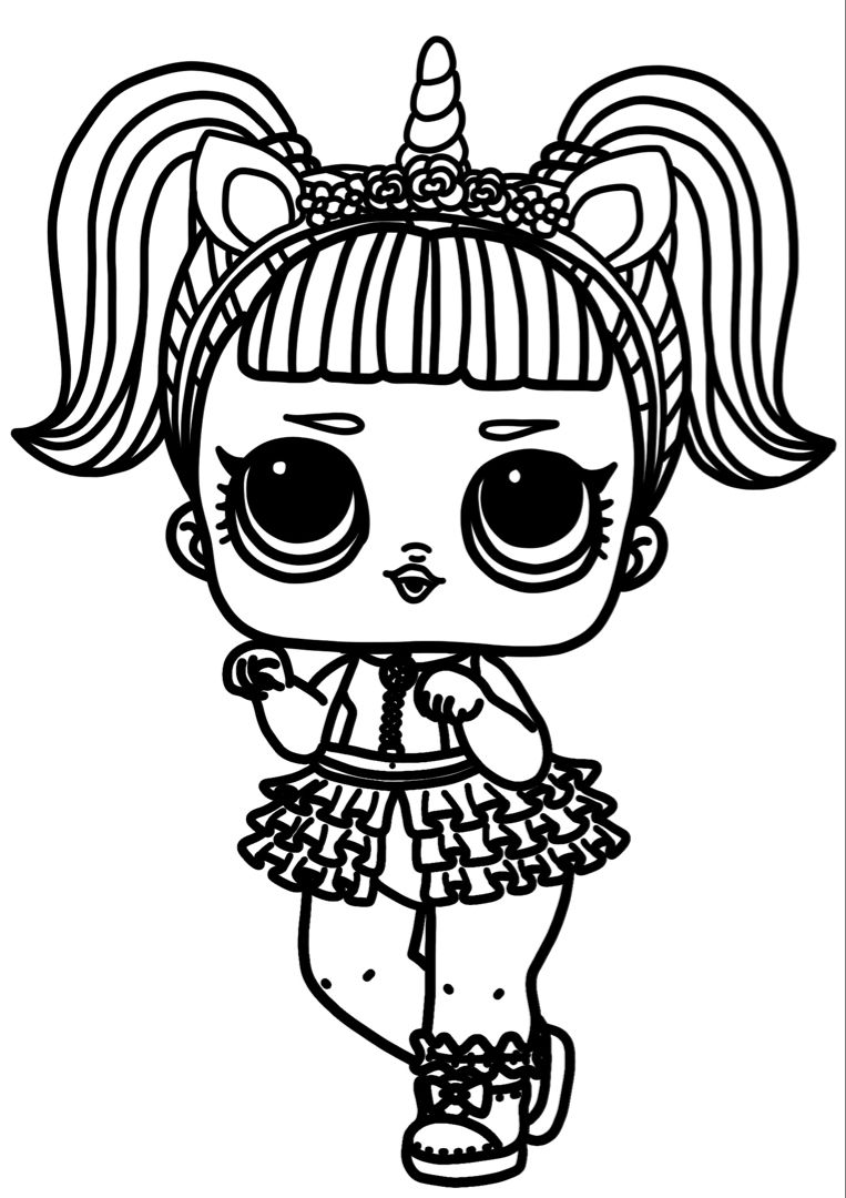 Lol Doll Unicorn Coloring Pages Unicorn Coloring Pages Cute