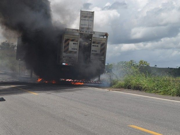 """""""O GRITO DO BICHO"""": Carreta com bois pega fogo no sul da Bahia  #ogritodobicho #falabicho"""