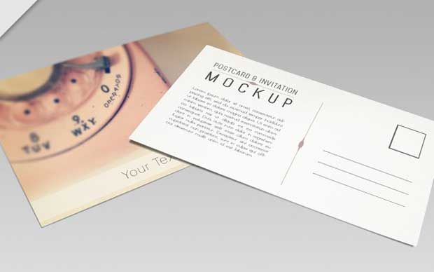 free-postcard-mockup-psd-download logo Pinterest Free - postcard format template