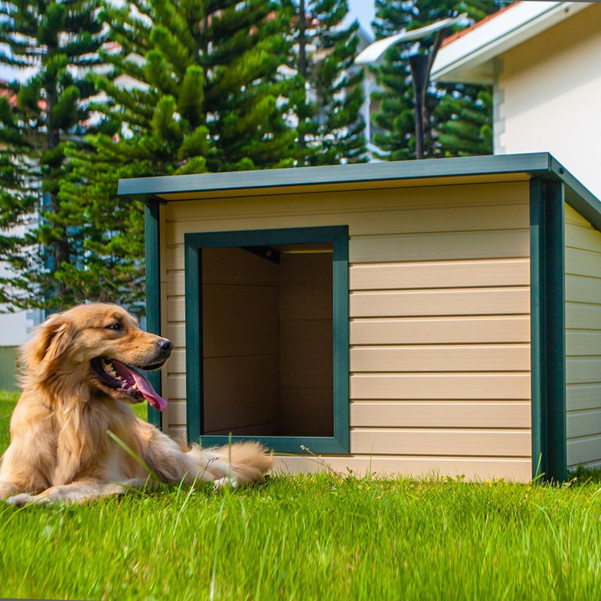 New Age Pet Rustic Lodge Dog House Medium Large Dog House Cool Dog Houses Insulated Dog House