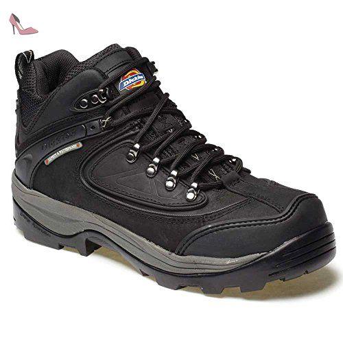 Dickies Newark, Chaussures de sécurité homme - Noir - noir, 45