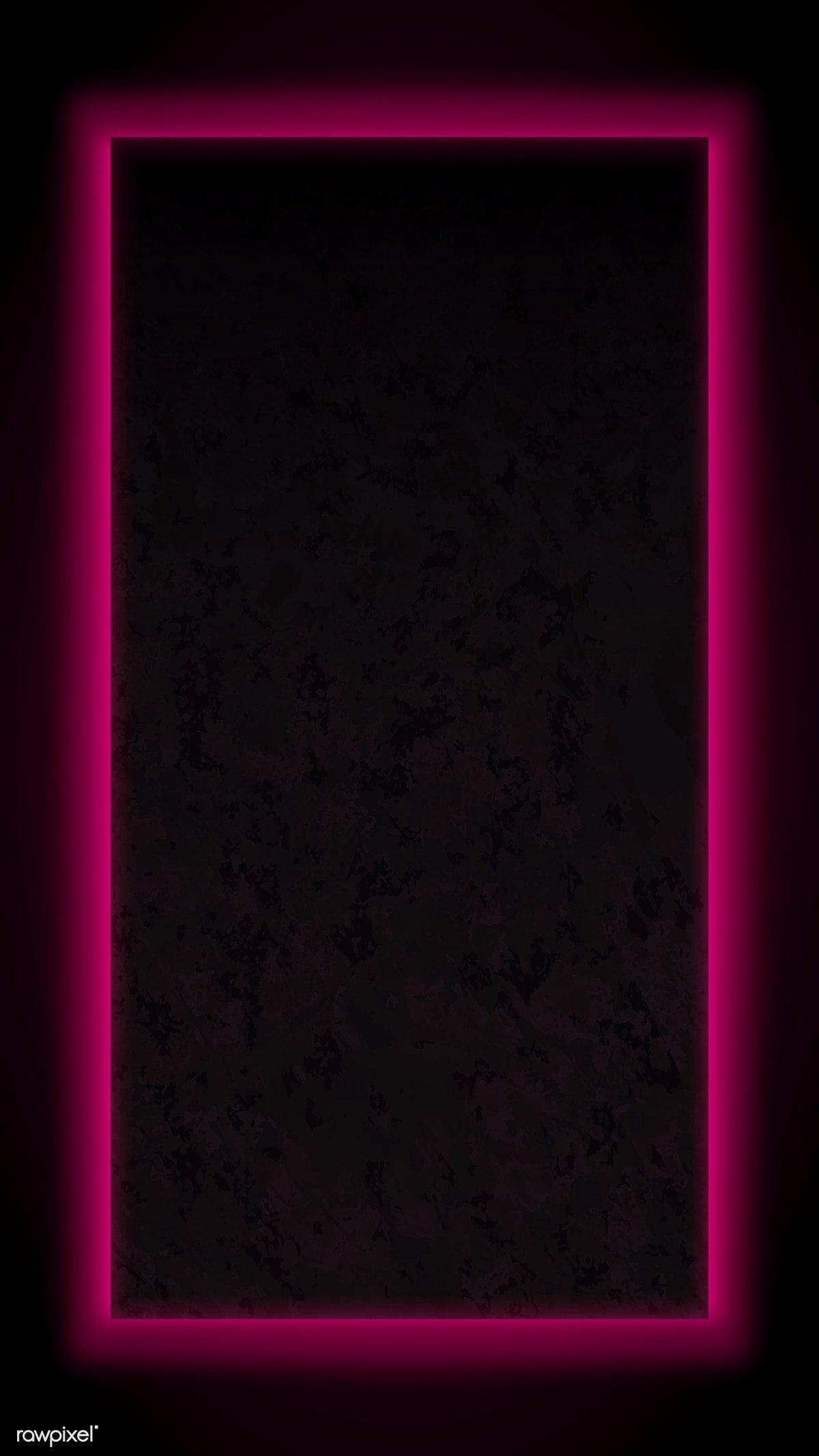 Download Premium Vector Of Pink Neon Frame Mobile Screen Template Vector Pink Neon Wallpaper Pink Neon Lights Neon Wallpaper