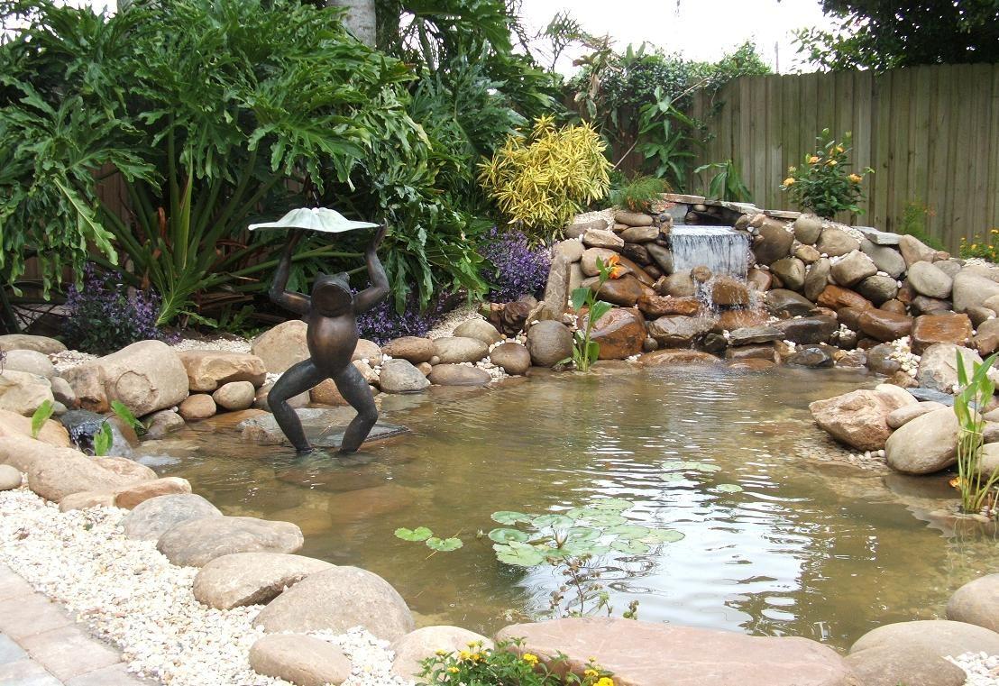 elegant koi pond waterfall decoration from japanese decoration idea