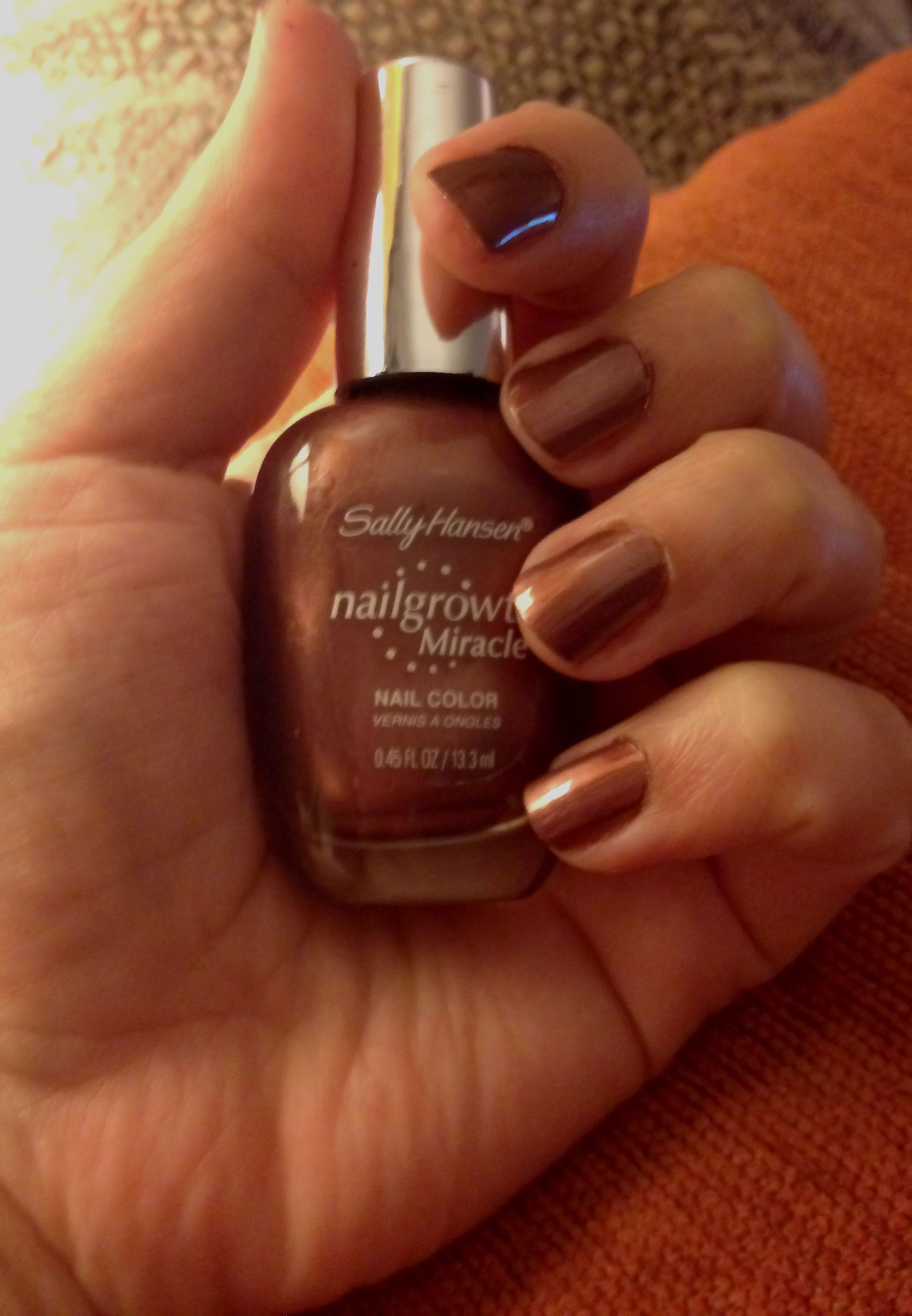 My nails painted in a new favorite color. *Sally Hansen\'s Nailgrowth ...