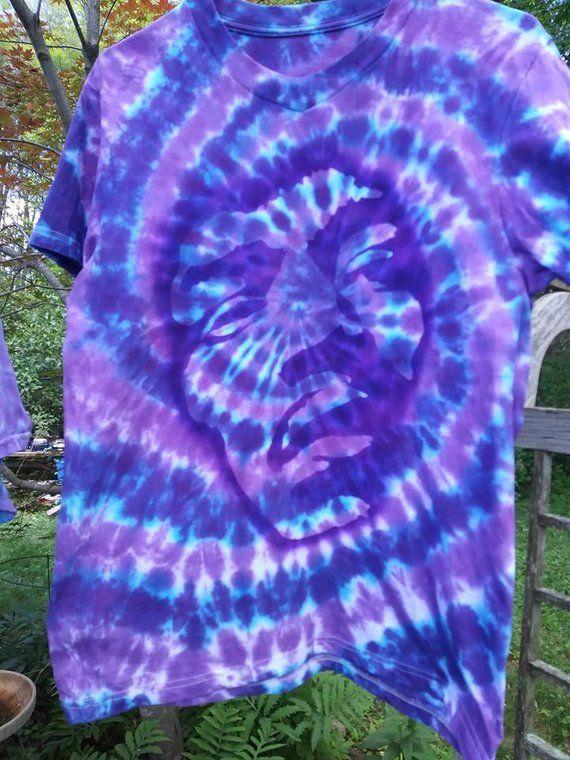 683d74740bb8a Jimi Hendrix Shirt Purple Haze Floating Psychedelic Purple Tie Dye ...