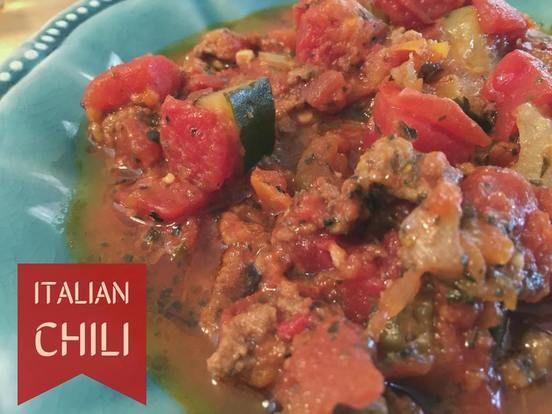 Italian Chili  http://www.momspantrykitchen.com/italian-chili.html