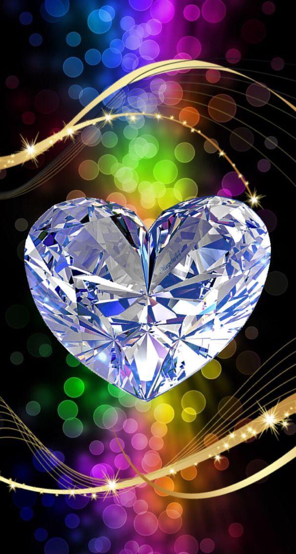 Diamond Wallpapers Sparkle Heart Wallpaper Bling