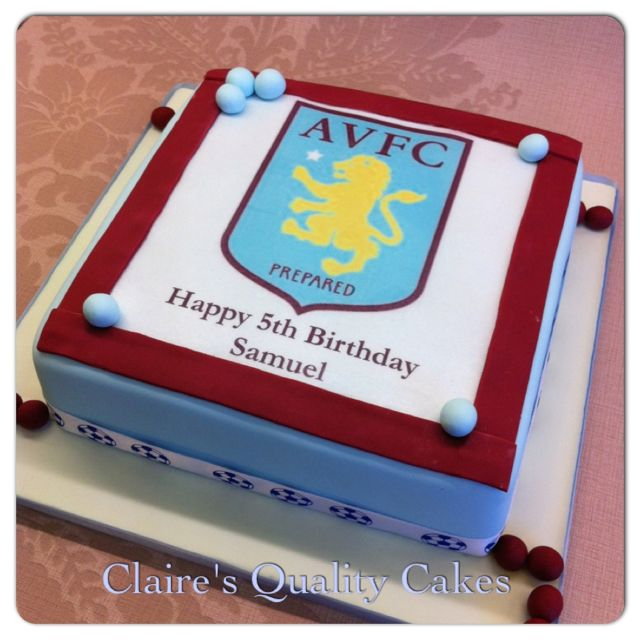 Idea for Ian's next birthday!!!  Aston Villa Birthday Cake