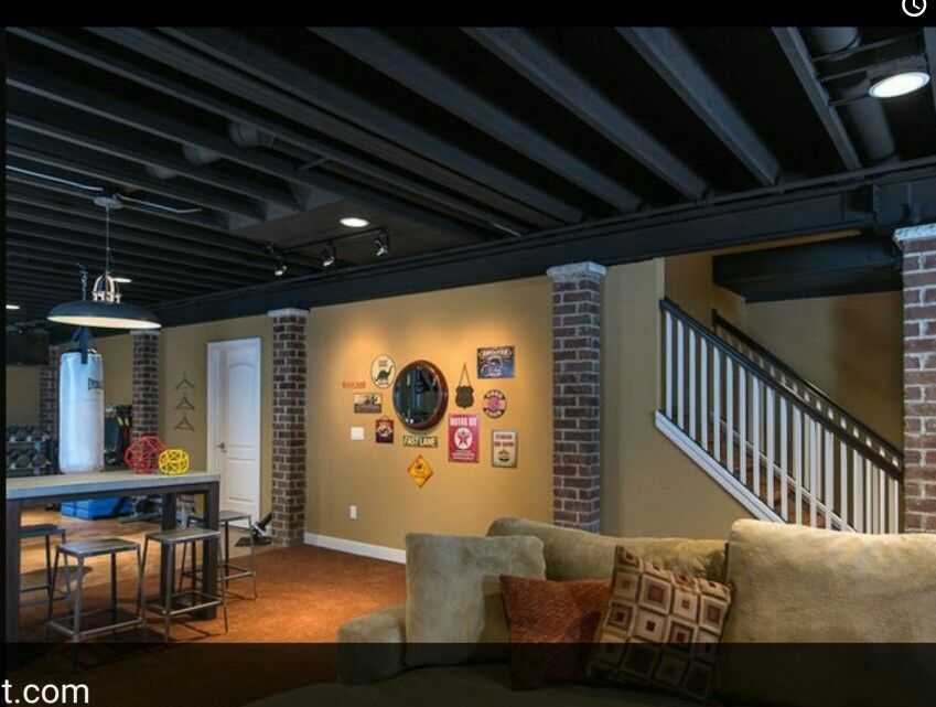 My Goal For My Basement On A Budget Exposed Basement Ceiling