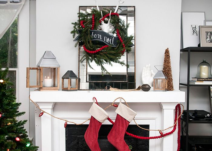 How To Christmas Mantle Decorations by Erin Souder west elm home - christmas decorations for mantels