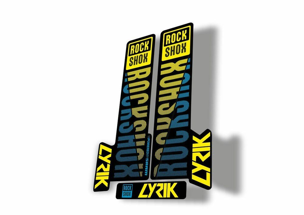 Rock Shox SID Brain 2018 Mountain Bike Cycling Decal Sticker Adhesive Dark Blue