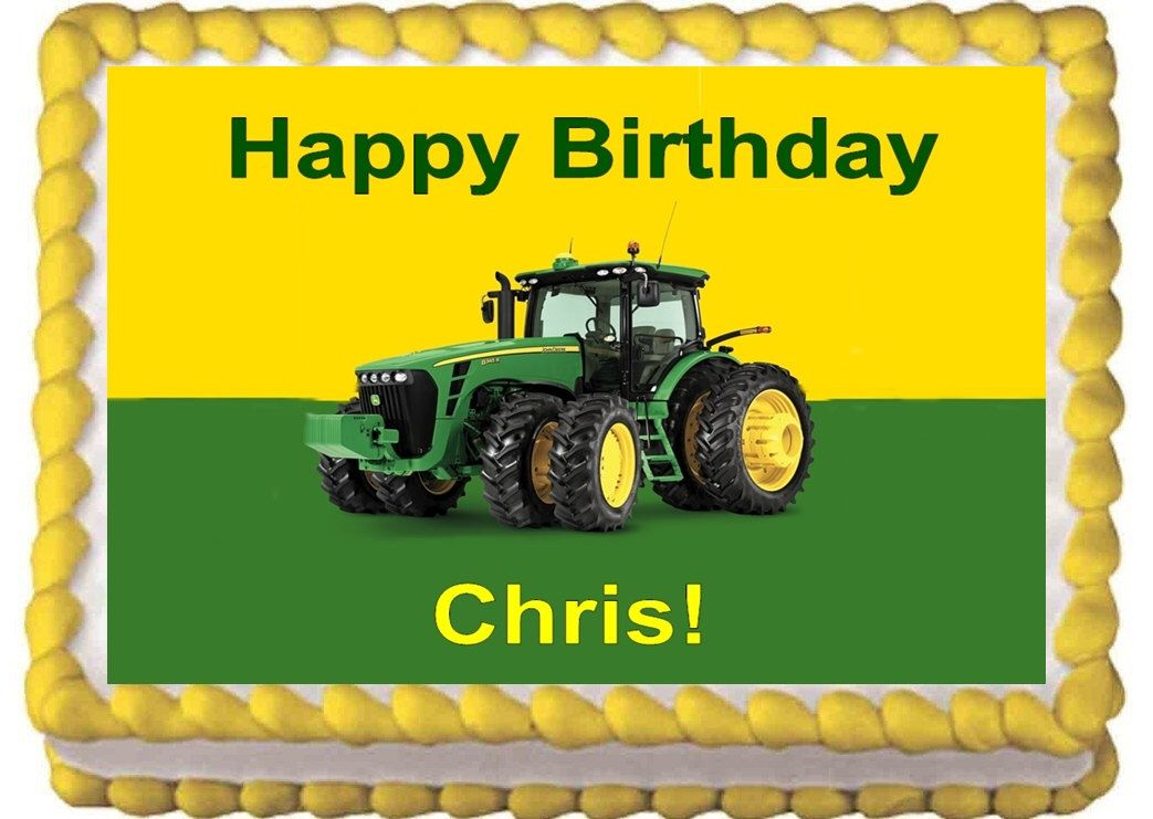 John Deere Edible Cake Toppers - Frosting Sheet for Birthday Cake by ...