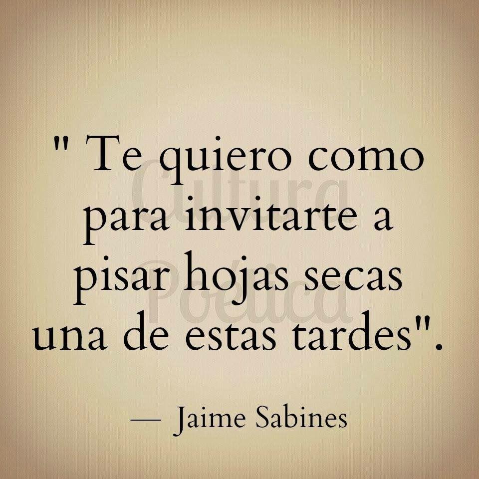 Jaime Sabines Frases De Amor Locura Sentimientos Poemas Pienso Palabras Cine Bonito