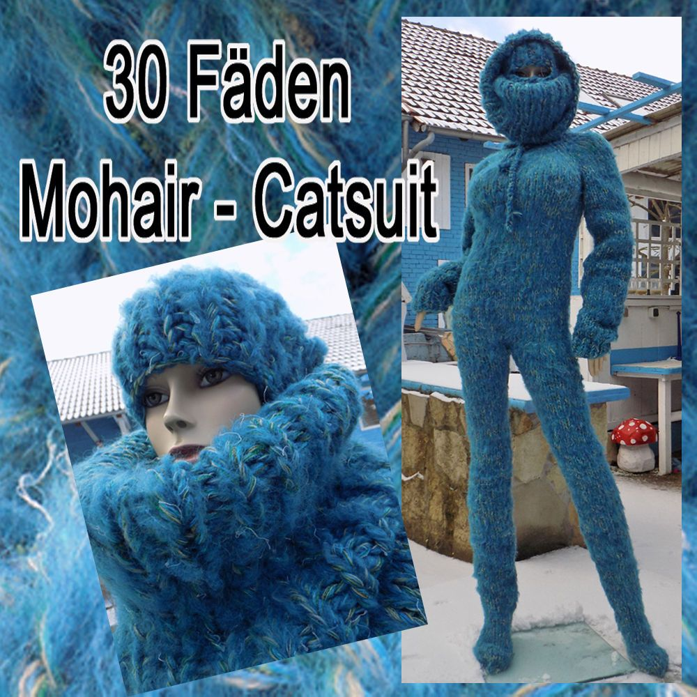 30 Fäden Mohair Overall Catsuit Sweater DICK WARM L - XL Cowlneck    Balaclava 7baa8c06d8