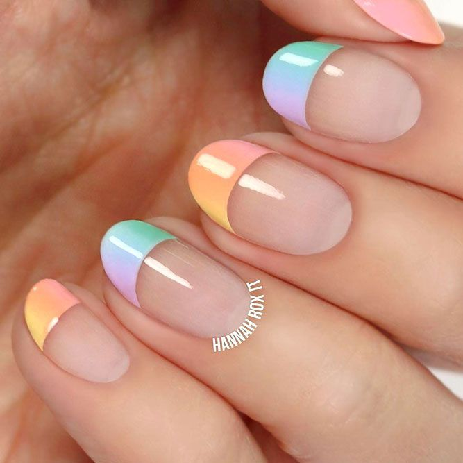 Rainbow Nails To Cheer Yourself Up | NailDesignsJo