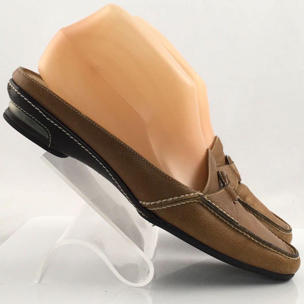 Cole Haan D12977 Brown Moc Toe Slide Mule Loafers Women's U.S. 8 B