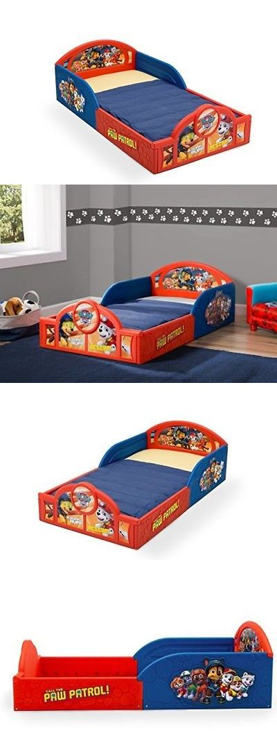 Bedroom Furniture 66742 Delta Children Deluxe Nickelodeon Paw Patrol Toddler Bed With Attached Guardrail