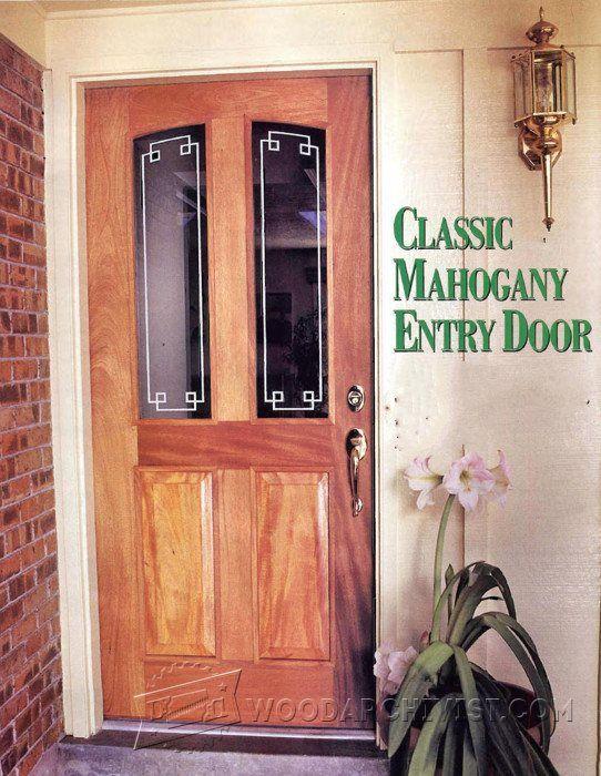 Entry Door Plans Door Construction And Techniques Woodarchivist Com Door Plan Entry Doors Diy Door