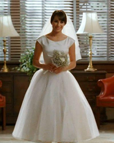 The Top 20 Tv Fashion Moments This Season Glee And Wedding Dress