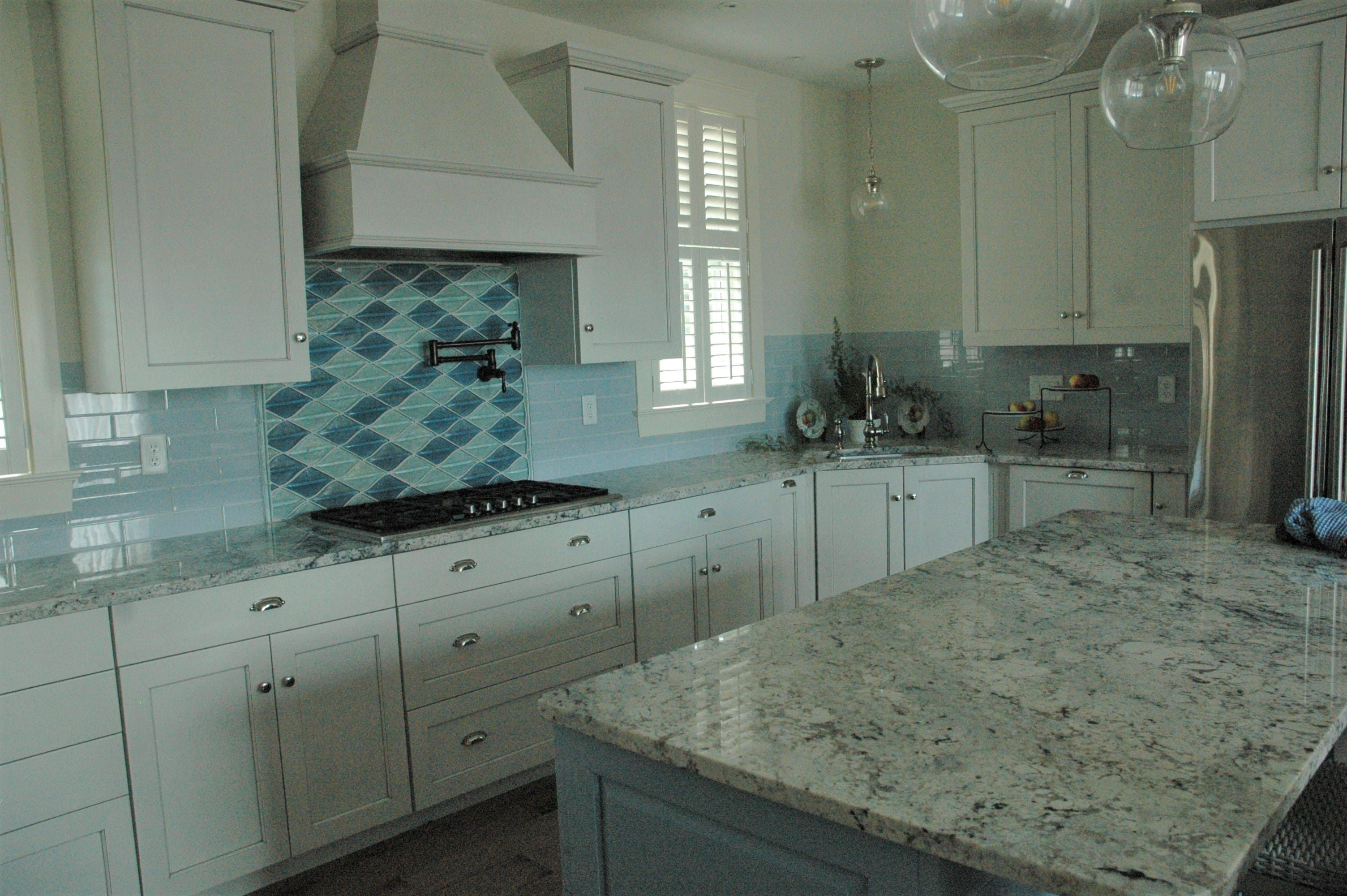 Kitchen backsplash glass oceanside glasstile elevations water colors