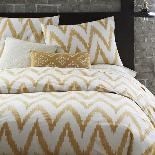 Organic Chevron Duvet Cover Shams Horseradish Chevron Duvet Covers Modern Bed Sheets Chevron Duvet